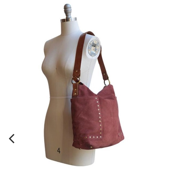 903285f76d anabaglish Handbags - Anabaglish Val Suede Studded Tote in Mulberry